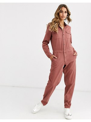 Vero Moda utility boiler suit in brown