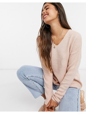 Vero Moda v neck jumper in pink