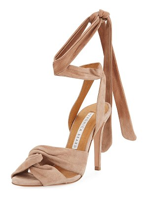 Veronica Beard Calida Suede 100mm Sandals