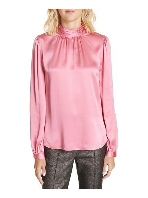 Veronica Beard chilton bow back silk blouse