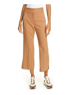 Veronica Beard cormac crop flare trousers