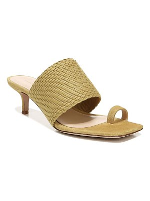 Veronica Beard Crenn Woven Suede Toe-Ring Sandals