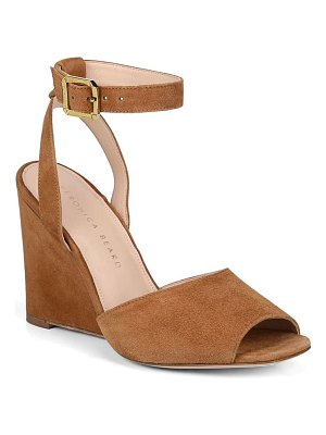 Veronica Beard cyndi ankle strap wedge sandal