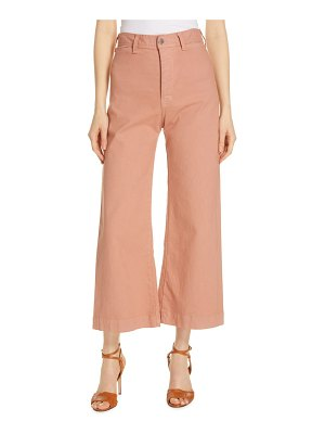 Veronica Beard cynthia crop wide leg jeans