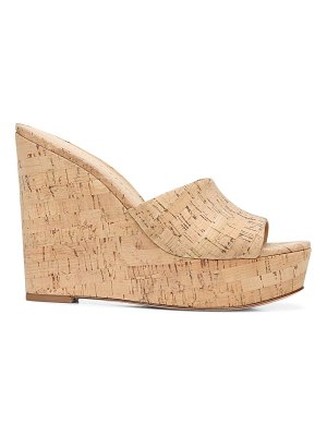 Veronica Beard dali cork platform wedge mules