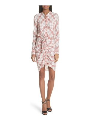 VERONICA BEARD Della Gathered Plaid Dress