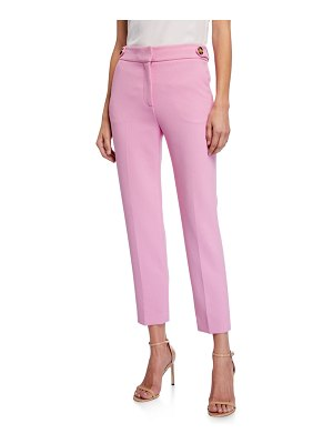 Veronica Beard Gamila Mid-Rise Ankle Pants