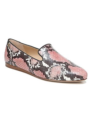 Veronica Beard Griffin Snake-Print Flat Loafers