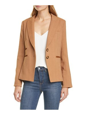 Veronica Beard hudson plaid wool blend dickey jacket