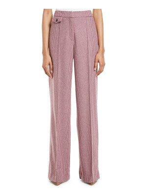 Veronica Beard Jewell High-Rise Houndstooth Pants