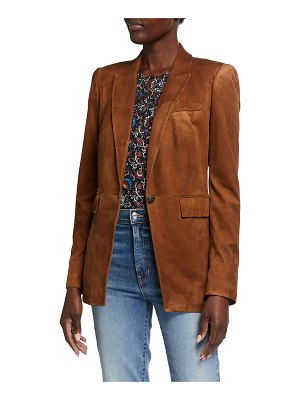 Veronica Beard Long And Lean Suede Dickey Jacket