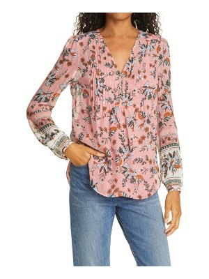 Veronica Beard lowell metallic silk blouse