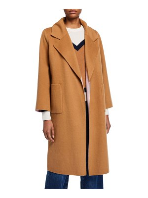 Veronica Beard Lyonia Wool-Cashmere Belted Coat