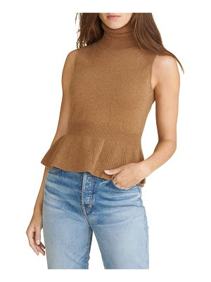 Veronica Beard Noor Cashmere Sleeveless Turtleneck Sweater