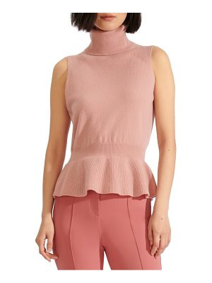 Veronica Beard noor turtleneck peplum cashmere sweater