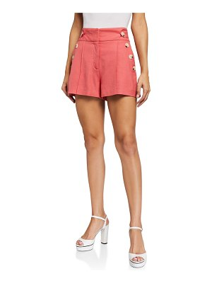 Veronica Beard Pine Button Shorts