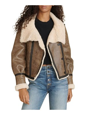Veronica Beard Selita Leather Shearling-Lined Jacket