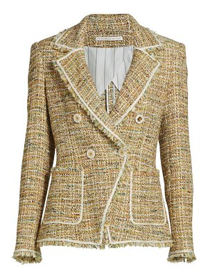 Veronica Beard theron tweed double-breasted jacket