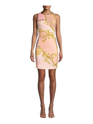 Versace Collection eyeshadow-print mini sheath dress