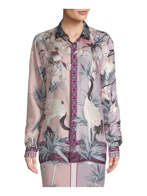 Versace Collection floral-print button-down shirt