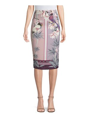 Versace Collection floral-print pencil skirt