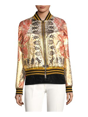 Versace Collection zip-front bomber jacket