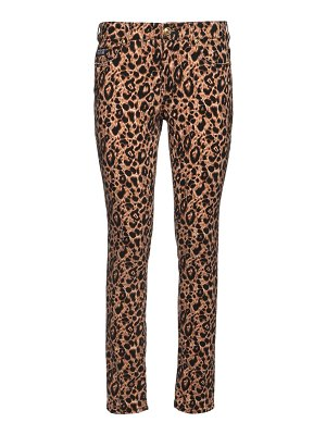 VERSACE JEANS COUTURE Leo print stretch denim skinny jeans