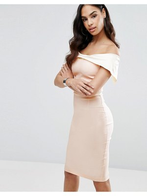 Vesper bardot overlay pencil dress