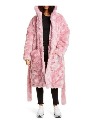VETEMENTS anarchy faux fur teddy coat