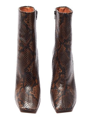 VETEMENTS boomerang python-effect leather ankle boots