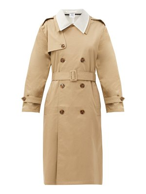 VETEMENTS cutout gabardine trench coat