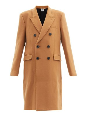 VETEMENTS double-breasted wool-blend coat