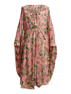 VETEMENTS floral print pleated jersey midi dress