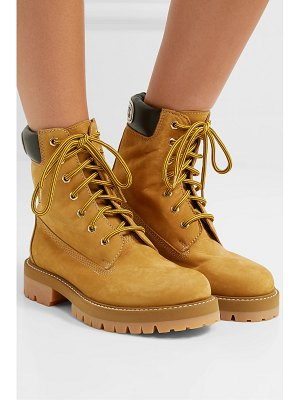 VETEMENTS leather-trimmed suede ankle boots