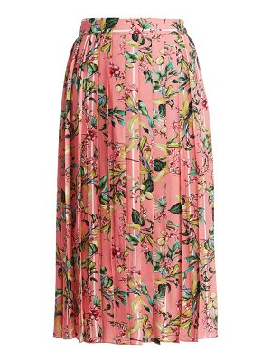 VETEMENTS pleated floral skirt