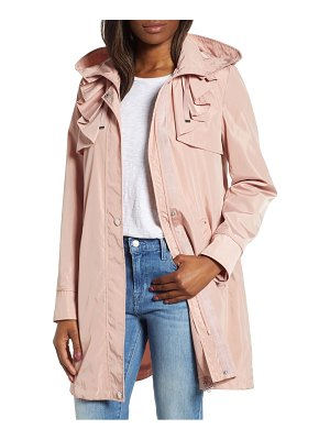 Via Spiga ruffle detail packable raincoat