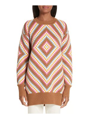 VICTOR GLEMAUD diamond patterned sweater