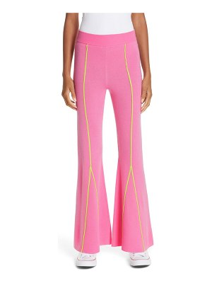 VICTOR GLEMAUD knitted flare wool pants