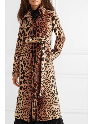 Victoria Beckham belted chenille-jacquard coat