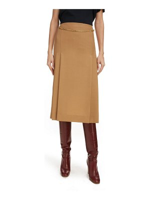 Victoria Beckham chain detail wool skirt