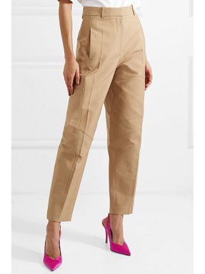 Victoria Beckham cotton-blend canvas tapered pants