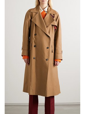 Victoria Beckham cotton-blend canvas trench coat