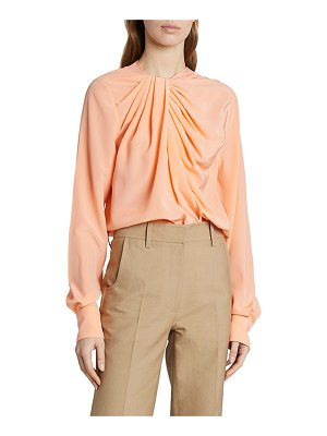 Victoria Beckham Draped Silk Blouse