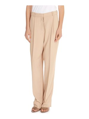 Victoria Beckham Flat-Fly Tapered-Leg Crepe Pants