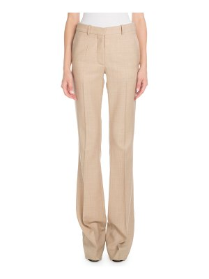 Victoria Beckham High-Waist Flared-Leg Wool Pants