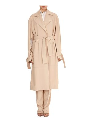 Victoria Beckham Notched-Collar Belted Wrap Trench Coat
