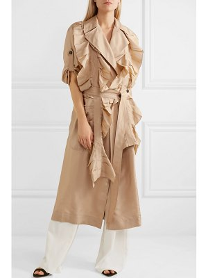 Victoria Beckham ruffled silk trench coat