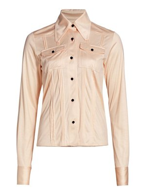Victoria Beckham slim-fit pintuck silk shirt