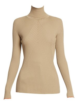 Victoria Beckham slim ribbed wool turtleneck