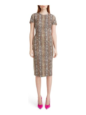 Victoria Beckham snake jacquard sheath dress